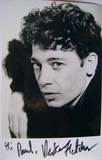 Dexter Fletcher autograph (hand-signed photograph, dedicated)