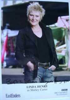 Linda Henry autograph (EastEnders actor)