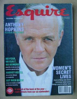 Esquire magazine - Anthony Hopkins cover (November 1993)