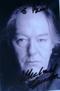 Michael Gambon autograph