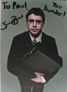 Simon Bird autograph