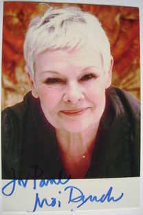 Judi Dench autograph