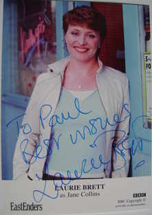 Laurie Brett autograph (EastEnders actor)