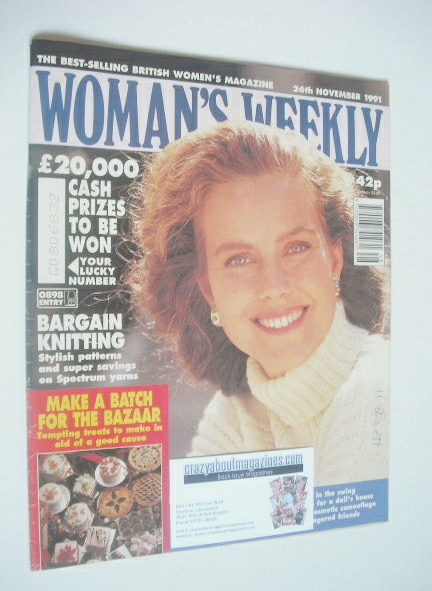 <!--1991-11-26-->Woman's Weekly magazine (26 November 1991)
