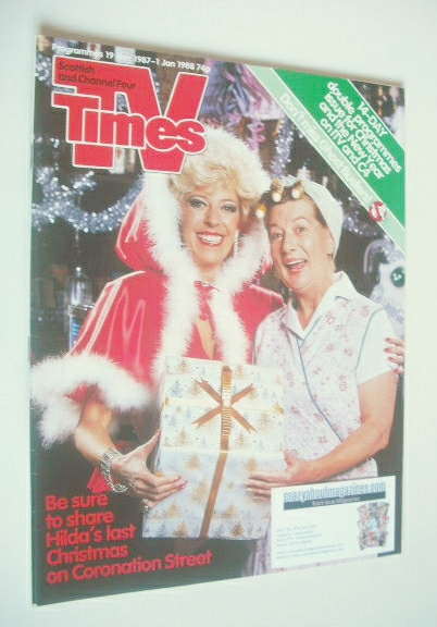 <!--1987-12-19-->TV Times magazine - Julie Goodyear and Jean Alexander cove