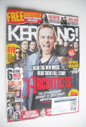 <!--2015-03-07-->Kerrang magazine - Architects cover (7 March 2015 - Issue
