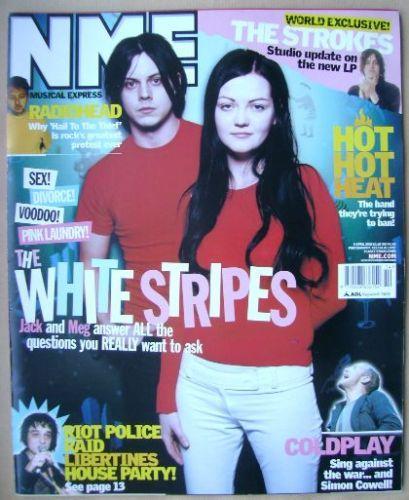 <!--2003-04-05-->NME magazine - The White Stripes cover (5 April 2003)