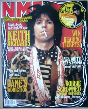NME magazine - Keith Richards cover (9 August 2003)