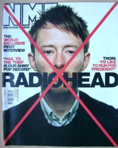<!--2003-05-03-->NME magazine - Thom Yorke cover (3 May 2003)