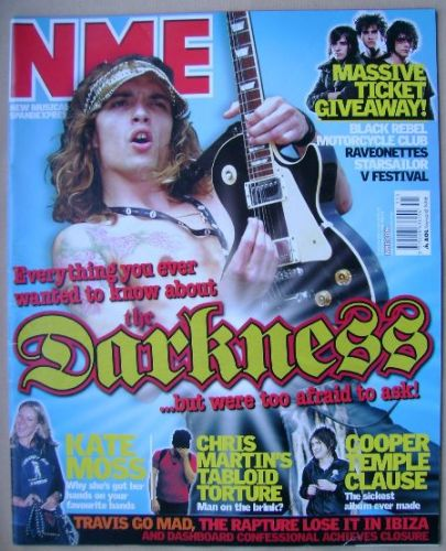 <!--2003-08-02-->NME magazine - Justin Hawkins cover (2 August 2003)