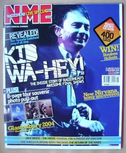 <!--2003-12-06-->NME magazine - Thom Yorke cover (6 December 2003)