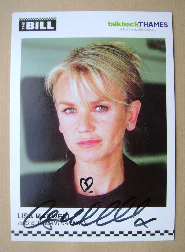 Lisa Maxwell autograph (ex The Bill actor)