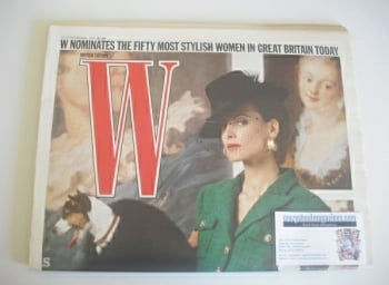 W magazine (12-25 November 1987) - Ines de la Fressange cover