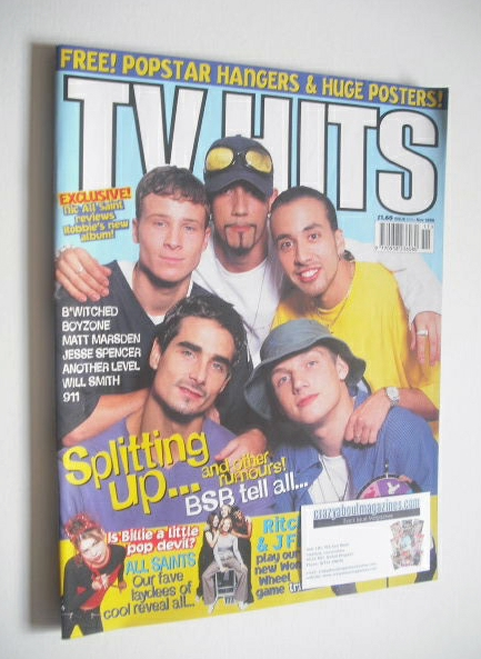 <!--1998-11-->TVHits magazine - November 1998 - Backstreet Boys cover