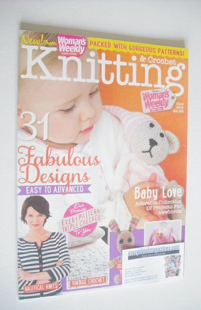 Knitting And Crochet Magazine : Woman s weekly knitting and crochet magazine june