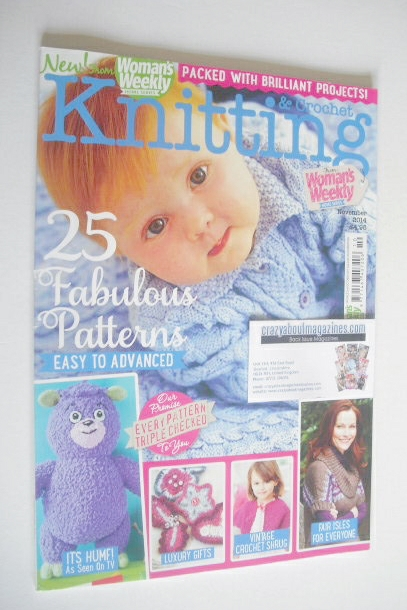 Knitting And Crochet Magazine : Woman s weekly knitting and crochet magazine november
