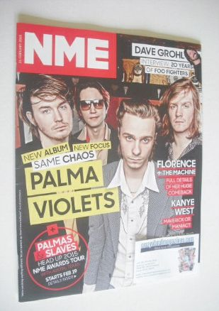 <!--2015-02-21-->NME magazine - Palma Violets cover (21 February 2015)