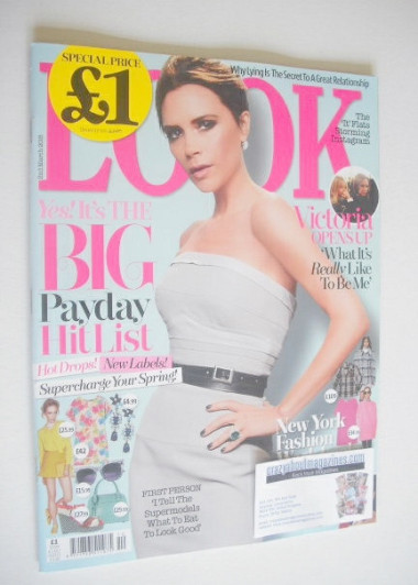 <!--2015-03-02-->Look magazine - 2 March 2015 - Victoria Beckham cover