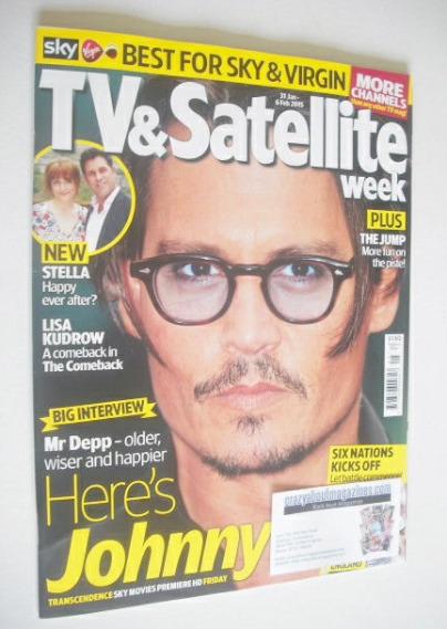 <!--2015-01-31-->TV&Satellite Week magazine - Johnny Depp cover (31 January