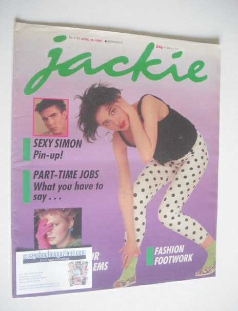 <!--1986-04-19-->Jackie magazine - 19 April 1986 (Issue 1163)