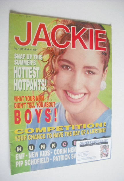 <!--1991-06-08-->Jackie magazine - 8 June 1991 (Issue 1431)