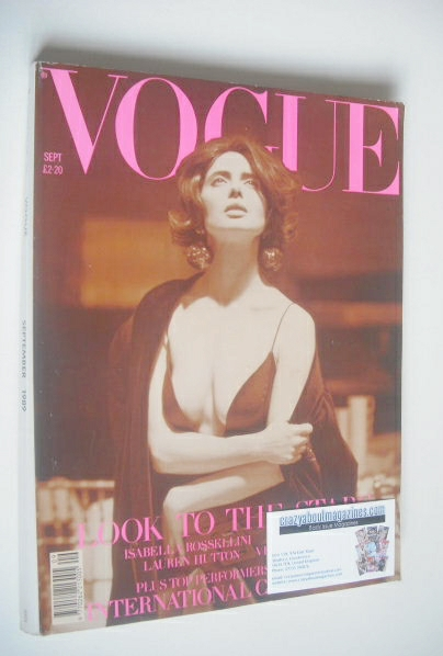 <!--1989-09-->British Vogue magazine - September 1989 - Isabella Rossellini