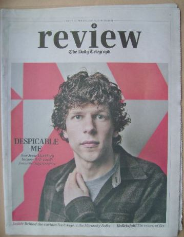 The Daily Telegraph Review newspaper supplement - 22 March 2014 - Jesse Eis
