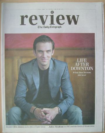 The Daily Telegraph Review newspaper supplement - 8 June 2013 - Dan Stevens