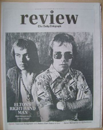 The Daily Telegraph Review newspaper supplement - 14 September 2013 - Elton