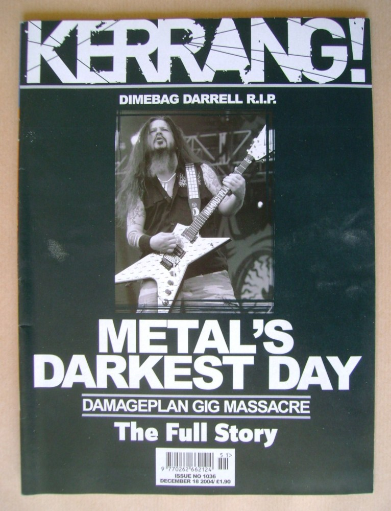 <!--2004-12-18-->Kerrang magazine - Dimebag Darrell cover (18 December 2004
