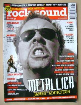 Rock Sound magazine - James Hetfield cover (September 2003)