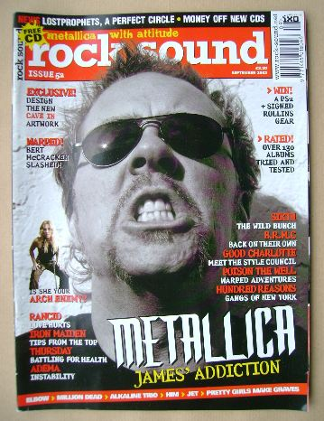 <!--2003-09-->Rock Sound magazine - James Hetfield cover (September 2003)