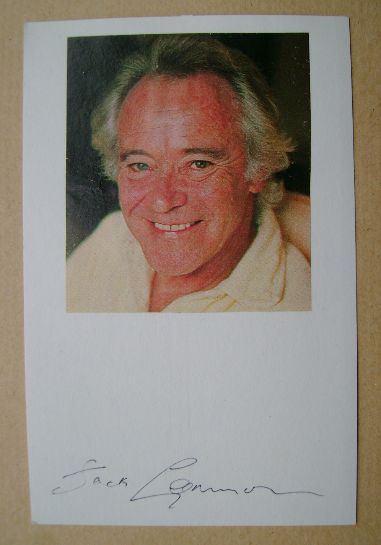 Jack Lemmon autograph (hand-signed white card)