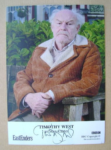 Timothy West autograph (hand-signed EastEnders cast card)