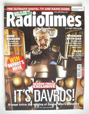 <!--2008-07-05-->Radio Times magazine - Doctor Who Davros cover (5-11 July