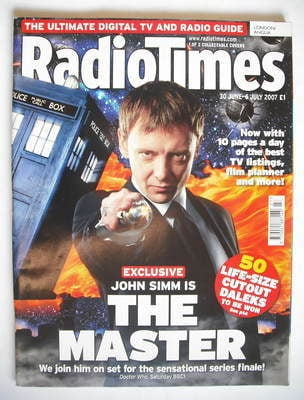 <!--2007-06-30-->Radio Times magazine - John Simm cover (30 June - 6 July 2