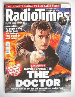 <!--2007-06-30-->Radio Times magazine - David Tennant cover (30 June - 6 Ju