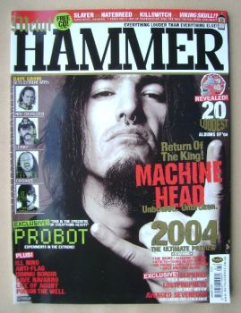 Metal Hammer magazine - Machine Head cover (January 2004)