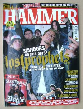 Metal Hammer magazine - Lostprophets cover (February 2003)