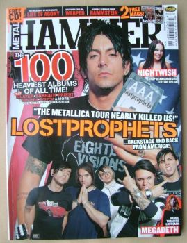 Metal Hammer magazine - Lostprophets cover (October 2004)
