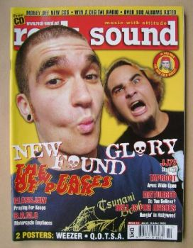 Rock Sound magazine - New Found Glory cover (October 2002)