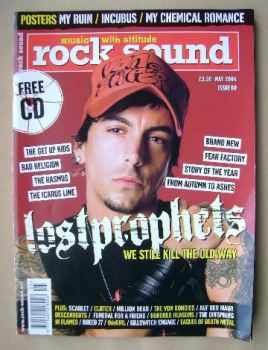 Rock Sound magazine - Ian Watkins cover (May 2004)