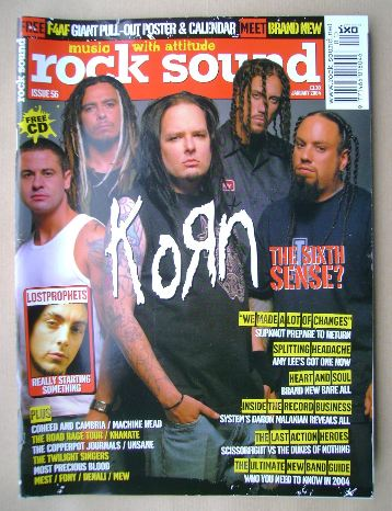 <!--2004-01-->Rock Sound magazine - Korn cover (January 2004)