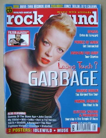 <!--2002-08-->Rock Sound magazine - Shirley Manson cover (August 2002)