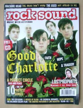 Rock Sound magazine - Good Charlotte cover (December 2004)