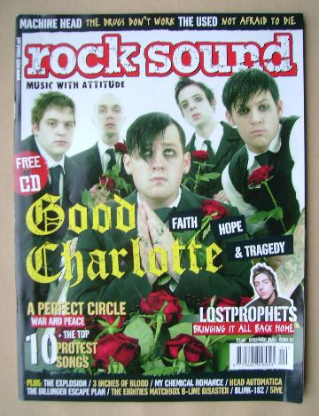 <!--2004-12-->Rock Sound magazine - Good Charlotte cover (December 2004)