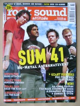 Rock Sound magazine - Sum 41 cover (December 2002)