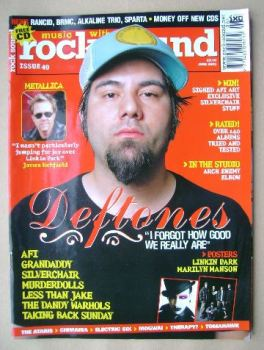 Rock Sound magazine - Chino Moreno cover (June 2003)