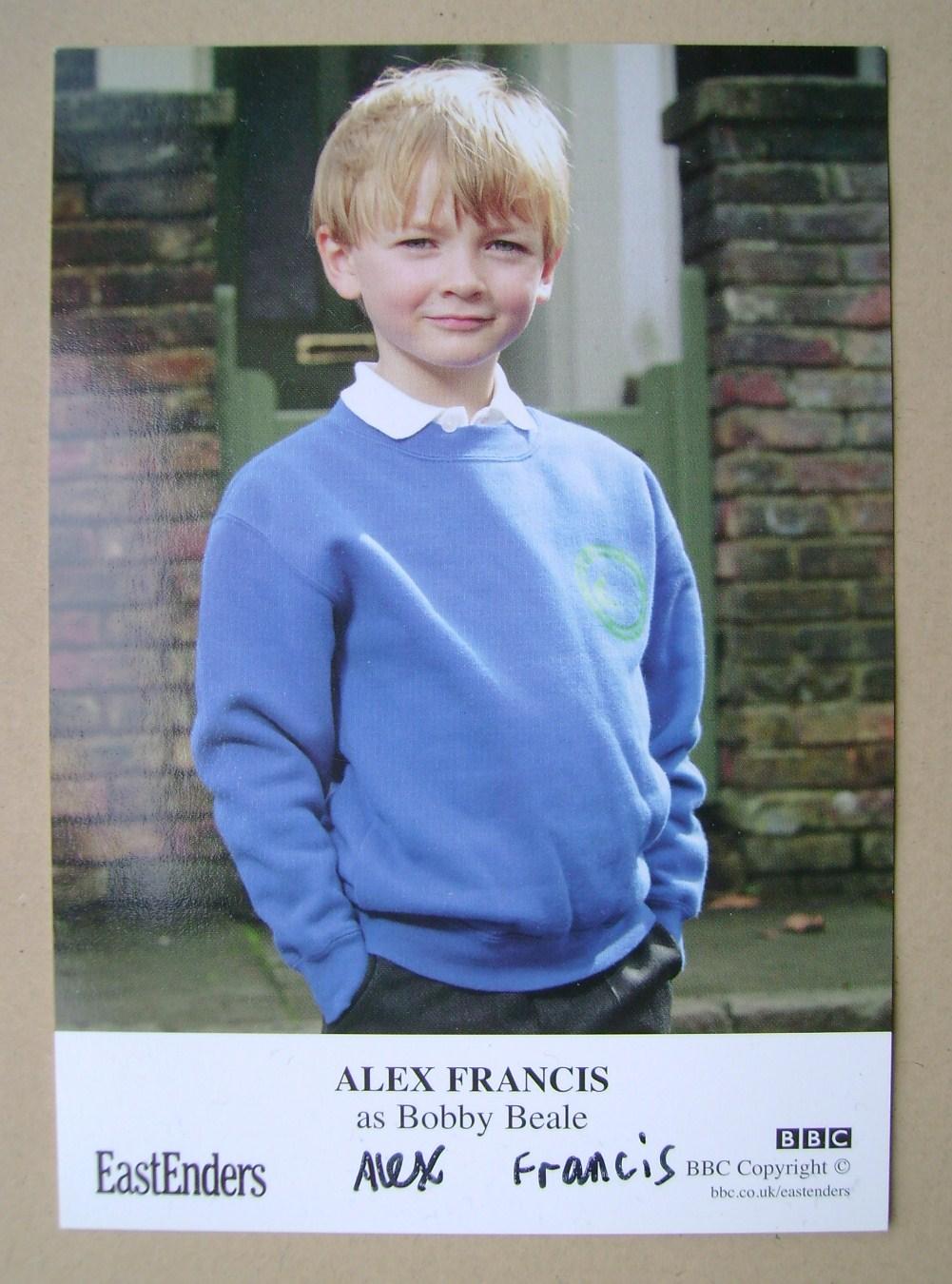 Alex Francis autograph (ex-EastEnders actor)