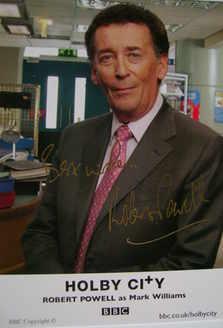 Robert Powell autograph (hand-signed cast card)